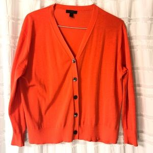 J Crew | Orange Sweater Cardigan